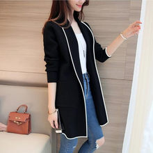 Women Plus Size Jacket New Spring Autumn Winter Coat Loose Big Yards Joker Long Sweaters Coat Female Casual Overcoat #816(China)