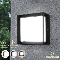 20 Вт 60 Светодиодный квадратный светильник с датчиком движения светодиодный наружный настенный светильник s светильники Ip65 Водонепроницаем...