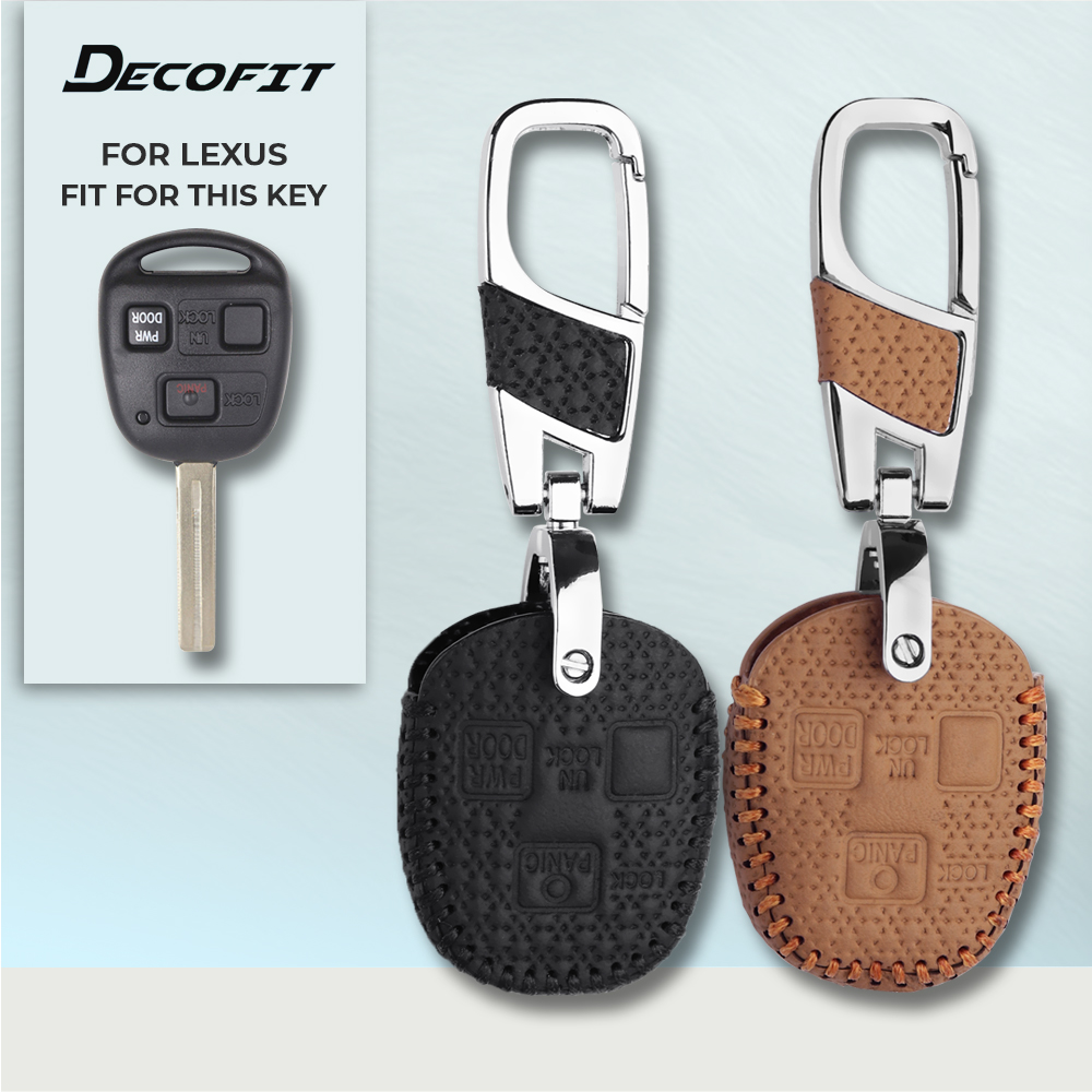 Genuine Leather Car <font><b>Key</b></font> Cover for for <font><b>Lexus</b></font> RX330 <font><b>RX350</b></font> RX400h RX450h Keychain Remote <font><b>Key</b></font> <font><b>Case</b></font> Keyless Accessories Shell Fob image