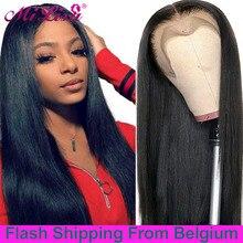 Wigs for Human-Hair Lace-Frontal Mi-Lisa Straight 13x6 Hd 30inch Wig-Bone Women