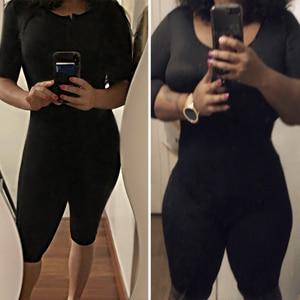 Image 4 - Vrouwen Powernet Full Body Shaper Post Chirurgie BodySuit Taille Trainer Corset Afslanken Dij Shapewear Tummy Controle Arm shaper