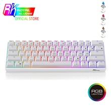 RK61 الميكانيكية الألعاب لوحة المفاتيح TKL 61 مفاتيح سماعة لاسلكية تعمل بالبلوتوث 60% RGB الأزرق براون الأحمر التبديل KeycapsPBT بودنغ Keycap لوحة المفاتيح
