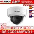 Hikvision оригинальная DS-2CD2185FWD-I 8MP CCTV камера сетевая камера H.265 обновляемая камера аудио интерфейс сигнализации