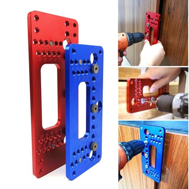 Ahşap alüminyum alaşımlı cep delik Pitch Jig seti dolap kapağı dolabı pozisyoner kolu yumruk bulucu matkap kılavuz kol