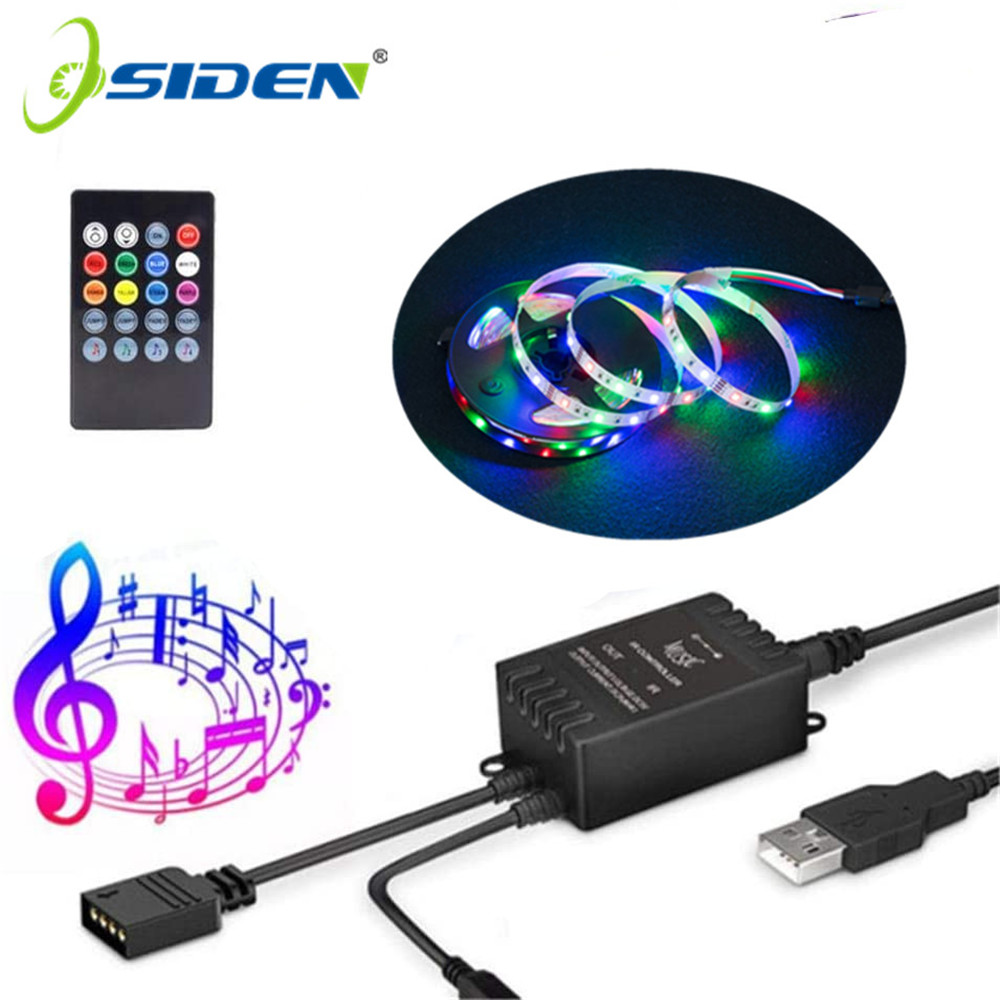 USB LED Strip DC5V 2835 RGB Changeable Music Controller LED TV Background Lighting 1M 2M 3M 4M 5M Flexible DIY  LED Light