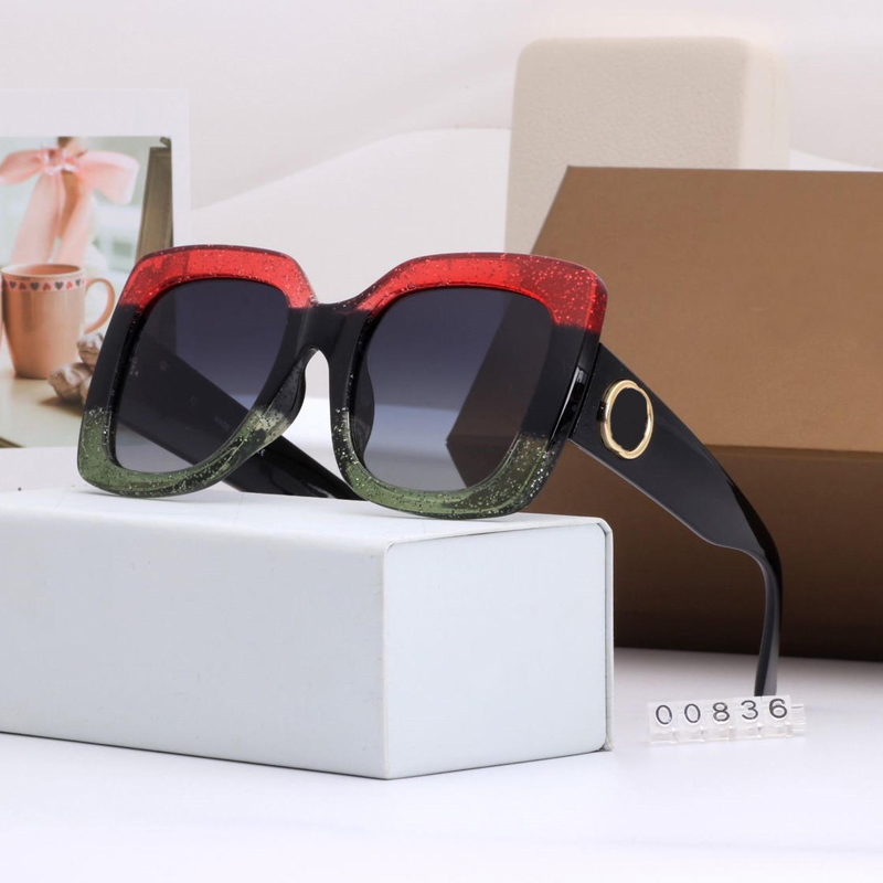 New Women Sunglasses Luxury Women Brand Designer Oversized Square Sun Glasses Female Summer Style Shades UV400 Tricolor Frame