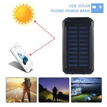 Solar Power Bank 2 USB Ports Solar Panel Charger Solar Mobil