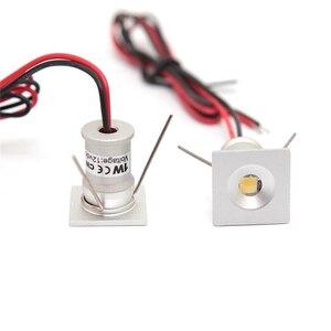 Image 3 - 9 ピース/ロットDC12V 1 ワットミニledダウンライトbridgeluxのチップ防水IP65 ledスポットライトledキャビネットライト新デザイン