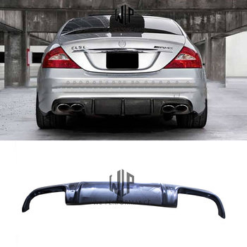 W219 High Quality Carbon Fiber Auto Rear Lip Diffuser Car Styling For Mercedes-Benz CLS Class W219 AMG Car Body Kit 2004-2011