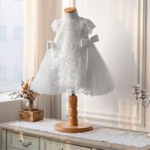 High Quality Baby Girls Christening Princess Dress sequin Bo