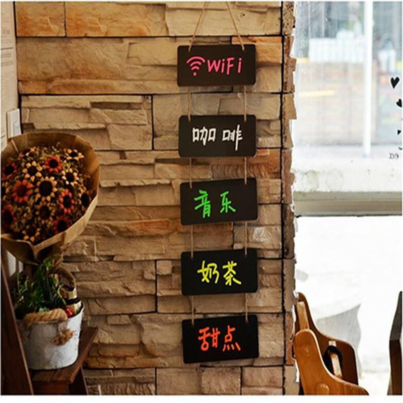 Меловая декоративная деревянная доска для свадьбы, вечеринки, дома, ежедневного подвешивания сланца, креативная доска для сообщений