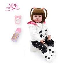 NPK 48cm reborn baby speelgoed poppen zachte siliconen vinyl reborn baby meisje poppen bebes reborn bonecas speelhuis speelgoed kind plamates