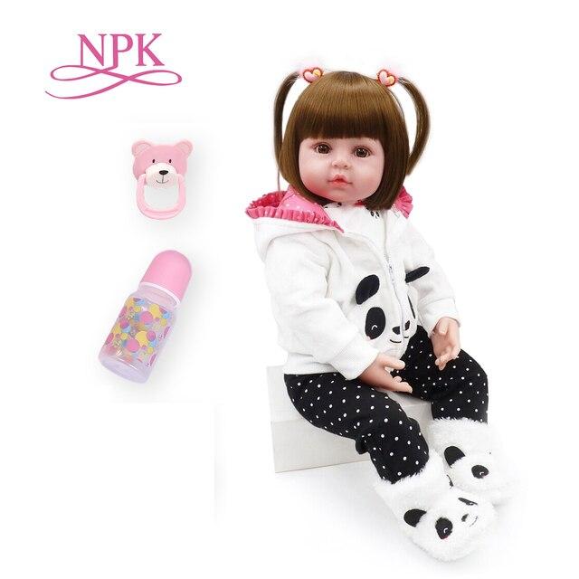 NPK 48cm reborn baby toy dolls soft silicone vinyl reborn baby girl dolls bebes reborn bonecas play house toys child plamates