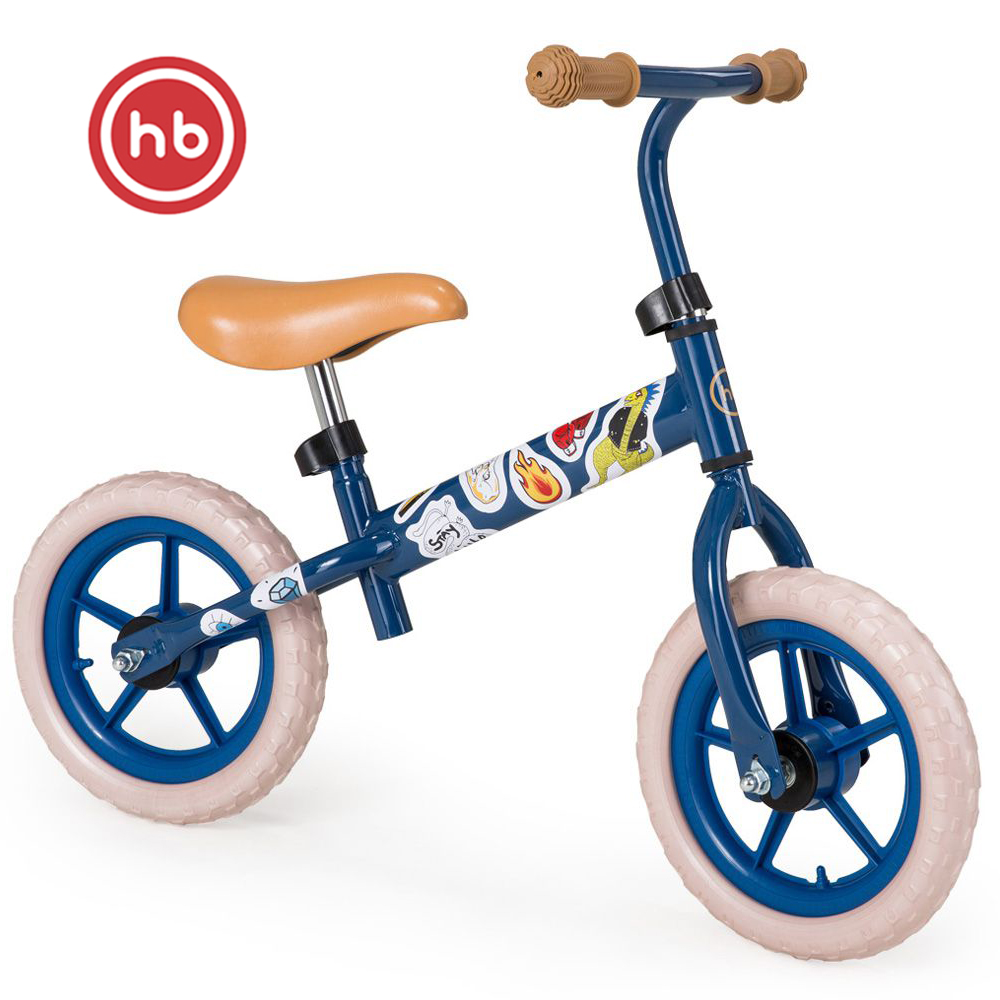 Bicycle Happy Baby 50002 bike children Bicycle balance bike for boys and girls for children navy Blue Kids Bike Running begovel 12inch baby balance bike with hand brake high carbon steel frame and eva solid wheel kids bike 85 100cm adjust balance bike