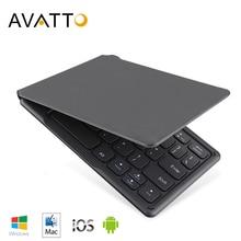 AVATTO A20 נייד מיני מתקפל מקלדת, Traval Bluetooth מתקפל אלחוטי לוח מקשים עבור iphone, אנדרואיד טלפון, לוח, ipad, מחשב