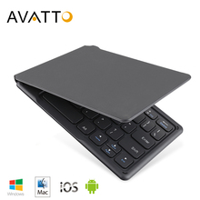 AVATTO A20 لوحة مفاتيح قابلة للطي صغيرة محمولة ، لوحة مفاتيح لاسلكية قابلة للطي بلوتوث السفر آيفون ، هاتف أندرويد ، كمبيوتر لوحي ، آي باد ، كمبيوتر
