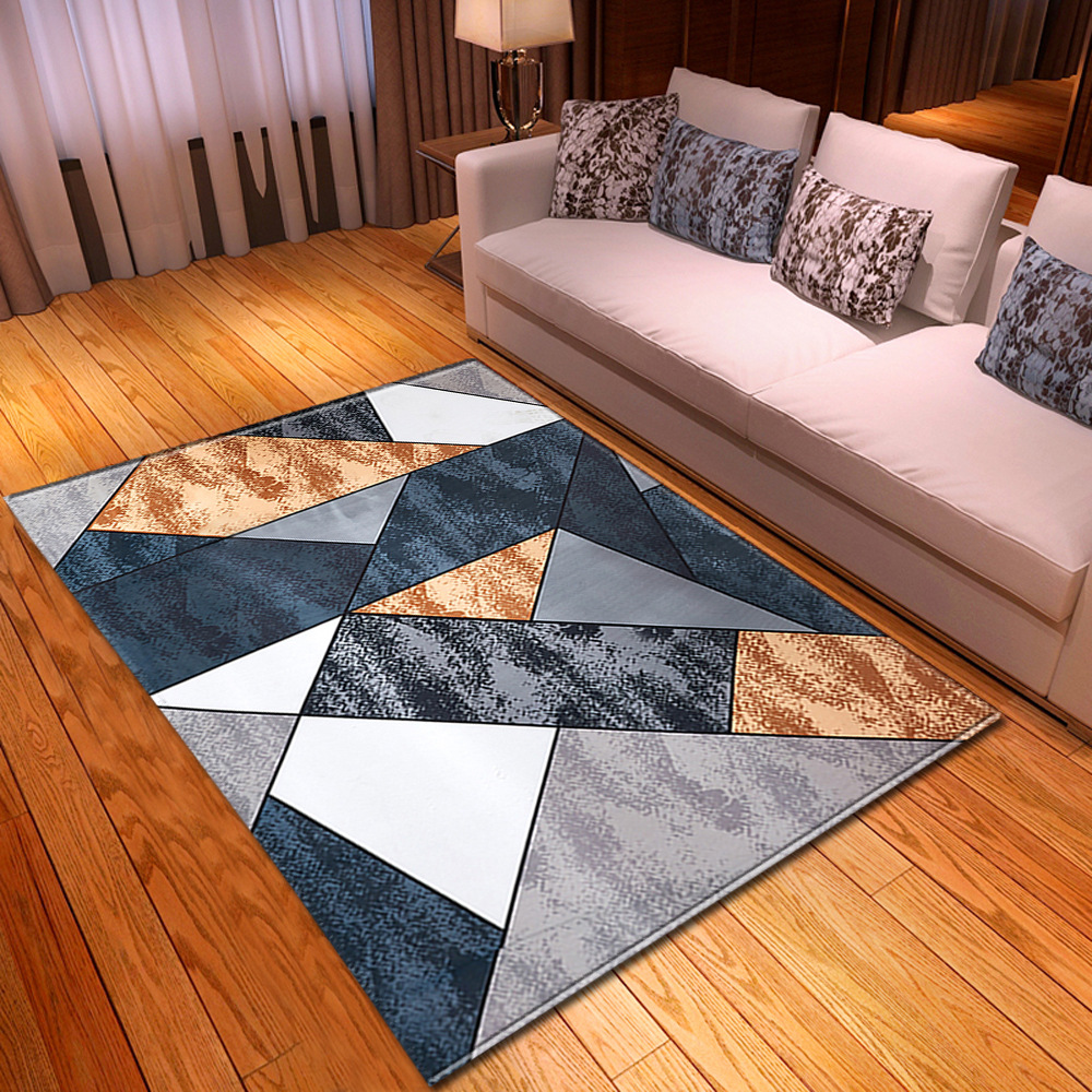 Carpet For Living Room Children Rug Kids Room Decoration Carpet Home  Hallway Floor Bedroom Bedside Mats 3D Geometric Pattern