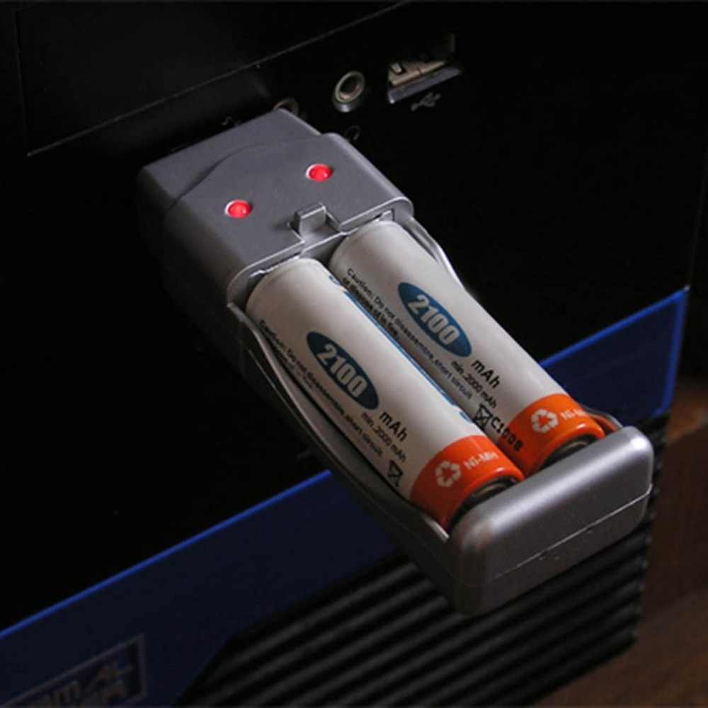 قابلة للشحن نيمه بطارية AA AAA عالية قدرة شاحن يو اس بي AAA/AA * 2 = 160mA USB DC5V المدخلات USB ميناء /محول التيار المتردد بالطاقة