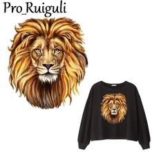 Lion animal Patch Iron on Heat Transfer Printing Patches Stickers for Clothes DIY Appliques Washable A-level Thermal decorations dark animal wolf iron on heat transfer printing patches stickers for clothes t shirt diy appliques washable patches wholesale