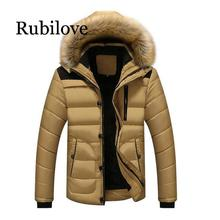 Rubilove 2019 New Style Winter Jackets Mens Coats Male Parkas Casual Thick Outwear Hooded Fleece Warm Overcoats Cl