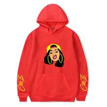 Rapper Cardi b Hoodie Pullover Men Women Fashion Casual Long Sleeve Hoodie Pullover Teens Outdoor Sweatshirt