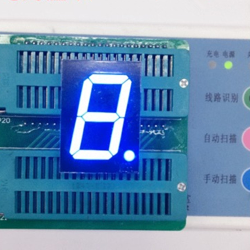 "5pcs 7-Segment 1"" LED Display 1inch 1Digital 1-Character Blue LED Display 7 Segments LED Tube Display Module Anode Cathode"