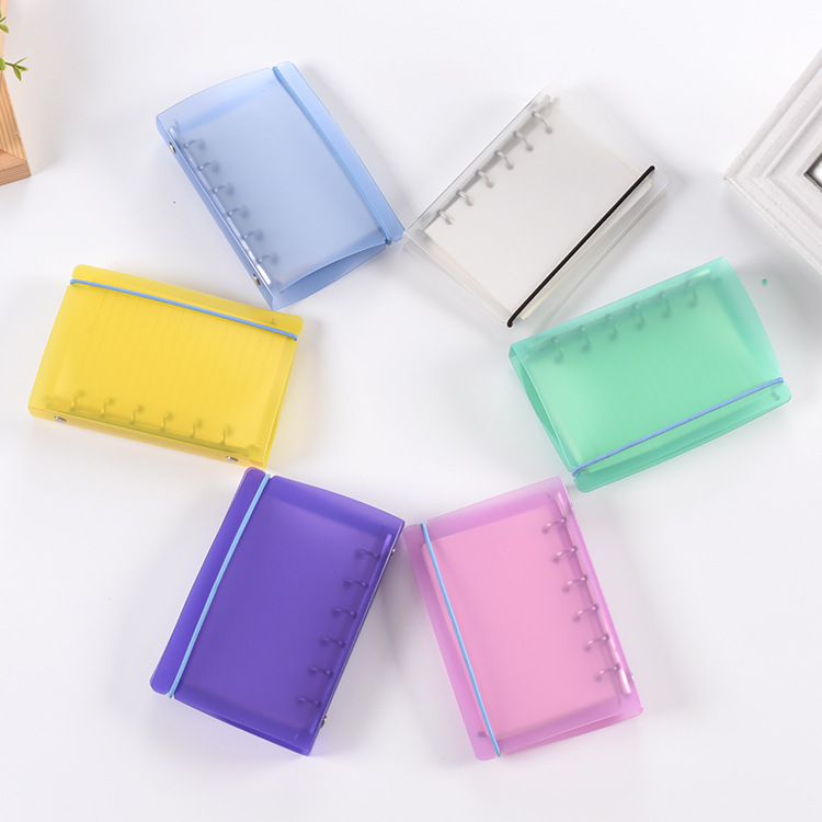 1Pc Transparent  Plastic Clip File FolderA4//B5/A5/A6 Notebook Loose Leaf Ring Binder Planner Agenda School Office Supplies