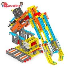 Hohe Empfehlen Spielzeug Spiele Für Micro: Bit Programmierbare Gebäude Block DIY Smart Robotic Arm Kit