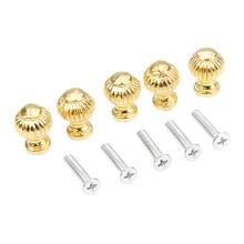 Золотые ручки для мебели 5 шт ящики шкатулок шкафов буфетов