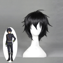 High Quality Anime Seraph of the End Yuichiro Hyakuya Cosplay Wig Black Heat Resistant Synthetic Short Hair Costume Party Wigs anime seraph of the end cosplay yuichiro hyakuya backpack anime cartoon second element middle school student bag female backpack