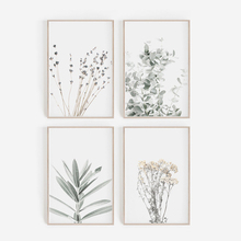 Nordic Style Lavender Eucalyptus Posters Botanical Canvas Painting Farmhouse Wall Art Pictures for Living Room Home Decoration