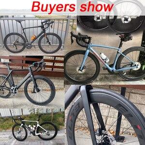 Image 5 - Elite SLR 700c hamulec tarczowy węgla szosowe koło rowerowe żwir Cyclocross koła rowerowe Tubular Clincher bezdętkowe niska oporność Hub