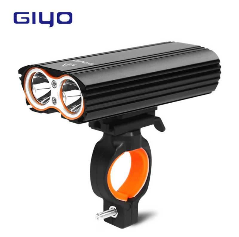 Bike Front Light GYIO Bicycle 2400Lm Headlight 2 Battery T6 Leds Bicycle Light Cycling Lamp Lantern Flashlight For Bicycle Bike