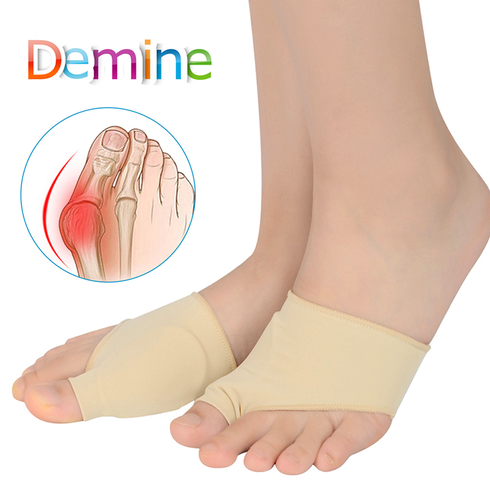 Demine Bunion Sleeve Big Toes Overlapping Correction Sock Hallux Valgus Corrector Toe Thumb Massage Foot Pain Relieve Pad Insert