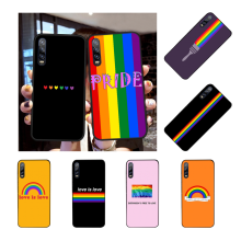 NBDRUICAI Gay Lesbian LGBT Rainbow Pride Phone Case Cover for Huawei 10 lite P20 pro lite P30 pro lite Psmart mate 20 pro lite(China)