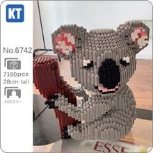 Xizai – Mini blocs magiques de construction pour enfants, modèle 3D, ours Koala, arbre, animaux sauvages, jouet de construction, sans boîte, 8005