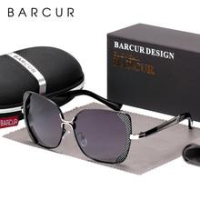 BARCUR Weibliche Sonnenbrille Frauen Marke Designer Polarisierte Sonnenbrille Sommer Objektiv Sonnenbrille für Frauen Shades