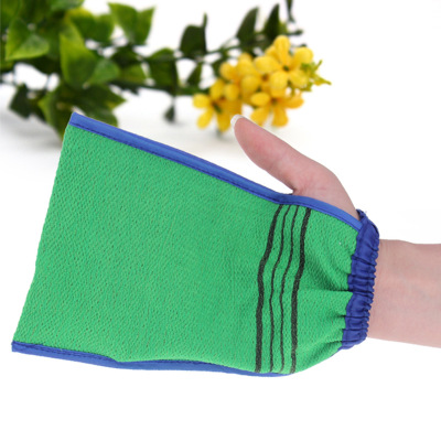 1 PCS Bath Towel Artifact Shower Spa Two-sided Bath Glove Body Cleaning Scrub Mitt Rub Dead Skin Removal