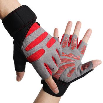 Antypoślizgowe rękawice Ridding rękawice gimnastyczne ciężkie sportowe rękawice podnoszące do kulturystyki rękawice treningowe do rękawice sportowe do ćwiczeń tanie i dobre opinie Podnoszenie ciężarów rękawice ZQ-228 Sports gloves Training gloves Fitness gloves Ridding gloves Neutral male and female