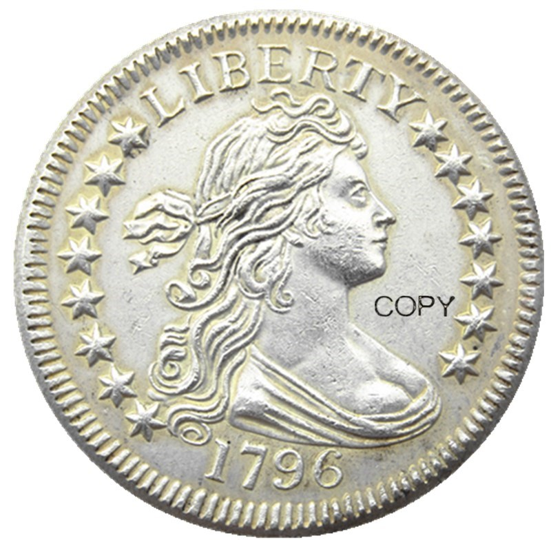 US 1796 Draped Bust Quarter Dollar Silver Plated Copy  Coin