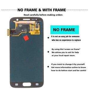 Image 3 - מקורי סופר AMOLED 5.1 LCD עם מסגרת לסמסונג גלקסי S7 תצוגת G930 G930F מגע מסך Digitizer עצרת