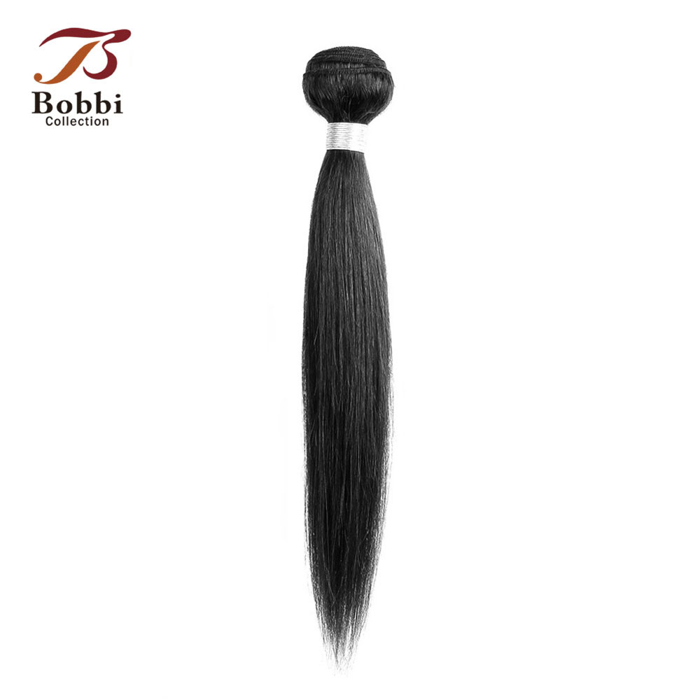 BOBBI COLLECTION 1 Bundle 80-85g 10-22 Inch Jet Black Color 1 Non Remy Human Hair Brazilian Straight Hair Weave Bundles