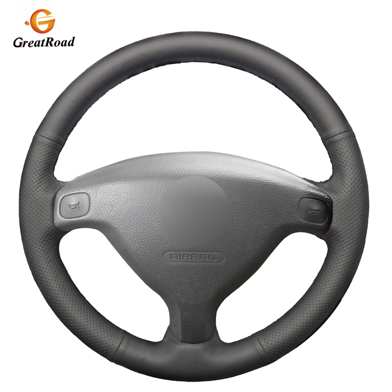 Black Genuine leatherr Car Steering Wheel Cover for Opel Zafira A 1999-2005 Buick Sail Opel Astra G H 1998-2007 Wheel Cover