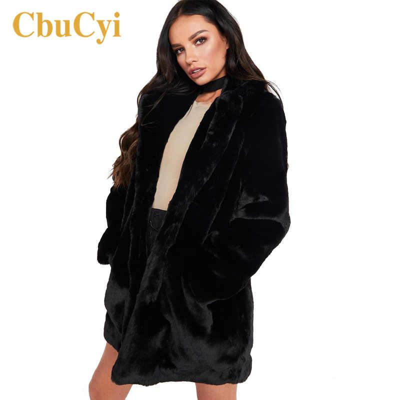 Otoño Invierno mujer abrigos de piel de talla grande 3XL mullido Faux Fur Coat mujer Chaquetas