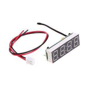 Цифровой светодиодный Автомобиль Электронные часы время температура напряжение 3 в 1 метр 12 в 5-20 в