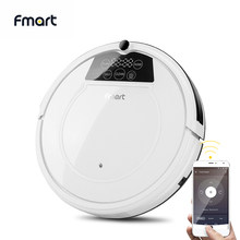 Fmart FM-320 Robot Vacuum Cleaner 1200PA Poweful Suction Wifi APP Control 3in1 pet hair home dry wet mopping cleaning robot(China)