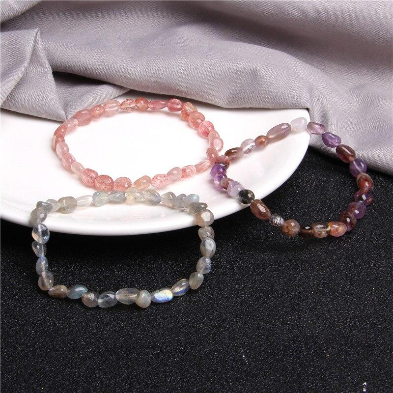 Fashion Crystal Beaded Elastic Bracelet Women Femme Natural Stone Handmade Jewelry Gift ladies high quality