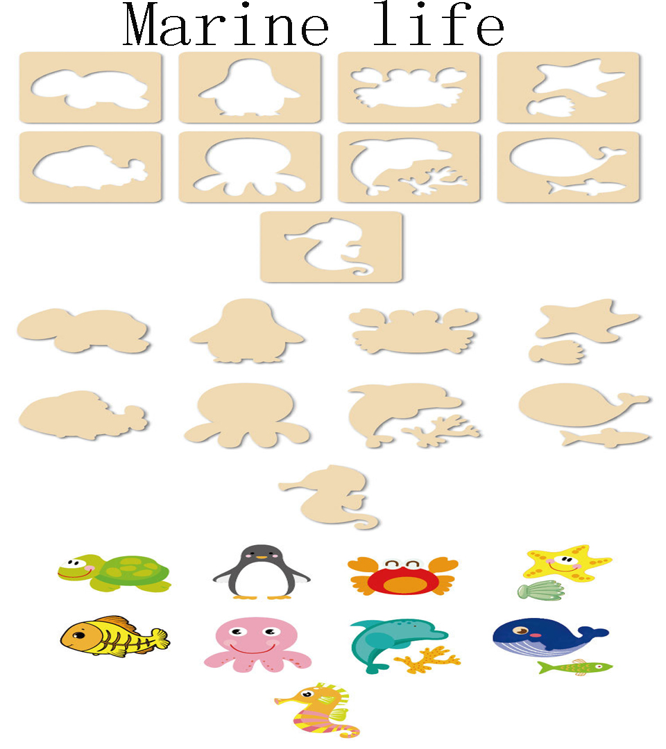 pintura stencil modelos coloring board crianças criativo