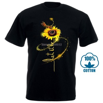 Hippie Dragonfly And Sunflower Let It Be T Shirt Black Cotton Men S 6Xl Us Stock 030982