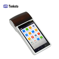 Portable Android POS APP Smart Touch Screen QR Code Pos System Terminal With 58mm Thermal Printer